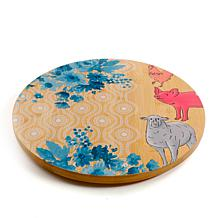 Gibson Home Urban Market Life On The Farm Bamboo Lazy Susan
