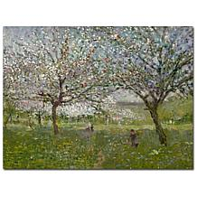 Ernest Quost 'Apple Trees in Flower' Canvas Art Print