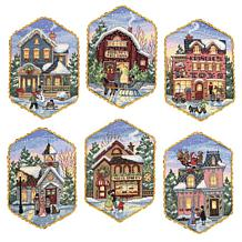 Gold Collection CrossStitch Christmas Ornament Set