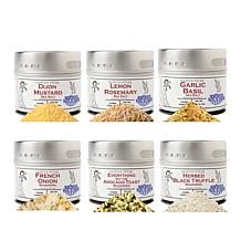 Gustus Vitae Brunch & Lunch 6-pack Magnetic Tins of Salt & Spices