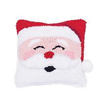 Happy Santa Hooked Pillow