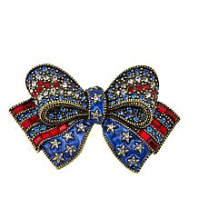 "Heidi Daus ""Bow and Beautiful"" Crystal Pin"