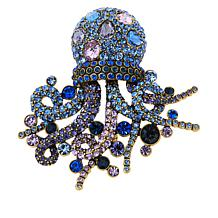 "Heidi Daus ""Deep Sea Dazzler"" Crystal Brooch"