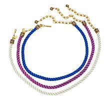 """Heidi Daus """"Elegant Essentials"""" Set of 3 Cord Necklaces"""