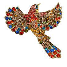 "Heidi Daus ""Free As a Bird"" Multi-Color Crystal Pin"