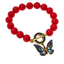 "Heidi Daus ""Monarch Magic"" Butterfly Bracelet"