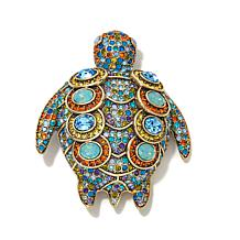 "Heidi Daus ""Terra-Pin"" Crystal-Accented Turtle Pin"