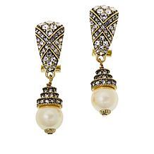 """Heidi Daus """"Triple Play"""" Crystal Drop Earrings"""