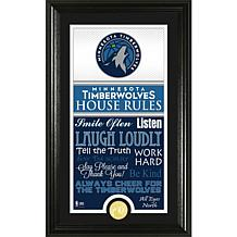 "Highland Mint ""House Rules"" Coin Photo Mint - Minnesota Timberwolves"