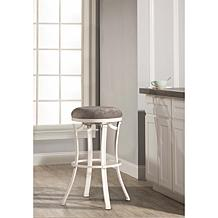 Hillsdale Furniture Kelford Swivel Backless Counter Stool - White/Gray