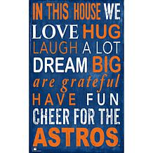 Houston Astros In This House Sign