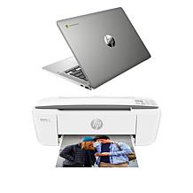 "HP Chromebook 14"" Laptop 4GB RAM 32GB eMMC with Printer"