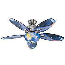 """Hunter 48"""" Discovery Brushed Nickel LED Light & Pull Chain Ceiling Fan"""