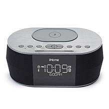 iHome iBTW38 Alarm Clock Bluetooth Stereo with Wireless Charging