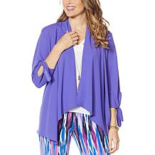 IMAN City Chic Tie-Sleeve Jacket