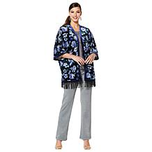IMAN Global Chic Dressed & Ready Signature Velvet Kimono