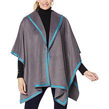 IMAN Global Chic Handkerchief Hem Cape Jacket