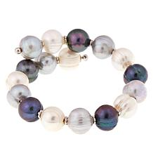 Imperial Pearls Multicolor Gray Cultured Pearl Bracelet