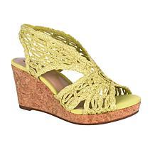 Impo Terinee Woven Raffia Wedge Sandal with Memory Foam