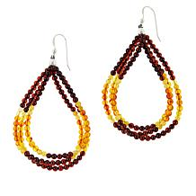 Jay King Amber and Butterscotch Amber Drop Earrings