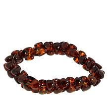 Jay King Brown Amber Bead Stretch Bracelet