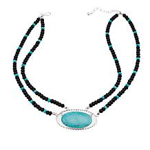 Jay King Campitos Turquoise And Black Agate Bead 18 1 4 Necklace