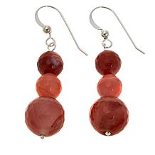 Jay King Carnelian Bead Drop Sterling Silver Earrings