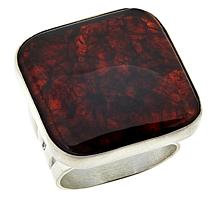 Jay King Cushion-Cut Amber Sterling Silver Ring