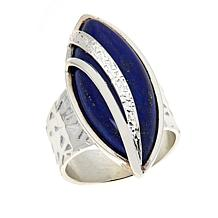 Jay King Gallery Collection Sterling Silver Marquise-Shape Lapis Ring