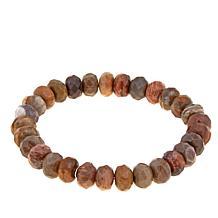 Jay King Mixed Petrified Wood Beaded Stretch Bracelet