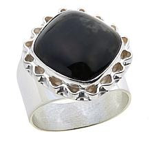 Jay King Nevada Black Jade Sterling Silver Ring