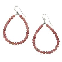 Jay King Rhodonite Bead Open Pear Drop Earrings