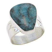 Jay King Smoky Graphical Amazonite Sterling Silver Ring