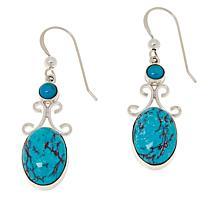 Jay King Sterling Silver Azure Peaks Turquoise Drop Earrings