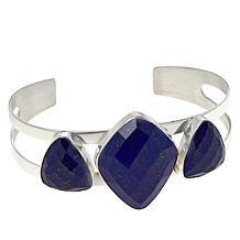 Jay King Sterling Silver Lapis 3-Stone Cuff Bracelet