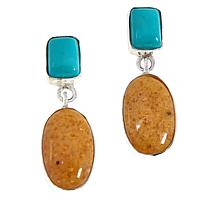 Jay King Sterling Silver Multi-Gemstone Oval Drop Earrings