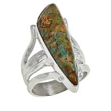 Jay King Sterling Silver Nevada Boulder Turquoise Ring