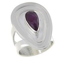Jay King Sterling Silver Purple Sapphire Pear-Shape Ring