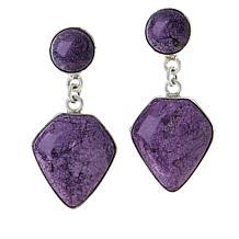 Jay King Sterling Silver Purple Stichtite Earrings