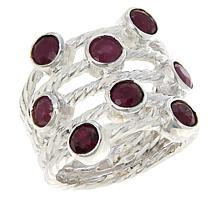 Jay King Sterling Silver Ruby Multi-Stone Ring