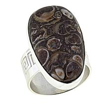 Jay King Turritella Stone Sterling Silver Ring