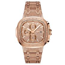 "JBW ""Heist"" Men's Rosetone .20ctw Diamond Bracelet Watch"