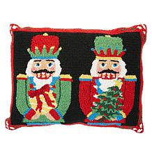 Jeffrey Banks Hooked Holiday Pillow