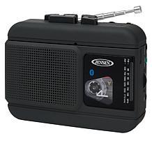 Jensen MCR60 Portable Bluetooth AM/FM Radio & Cassette Player/Recorder