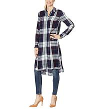 Jessica Simpson Lori Printed Button-Down Duster Shirt