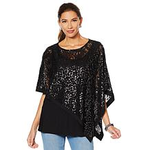 Joan Boyce Sequin Poncho and Cami 2-piece Set