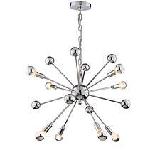 "JONATHAN Y Chrome Glenn 22.5"" 8-Light Metal Sputnik-style Chandelier"