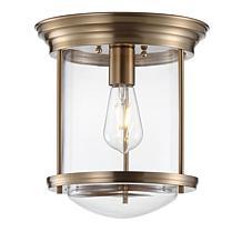 "Jonathan Y Savannah 10.25"" Metal/Glass LED Flush Mount Light Fixture"