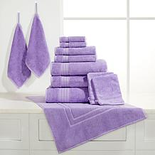JOY 12pc Plush Bleach/Cosmetic-Resistant Towels