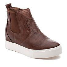 J/Slides NYC Sydnee High-Top Leather Pull-On Sneaker